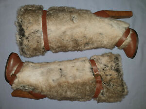 Size 10 Colin Stuart Knee High Boots High Heels Brown and fake fur