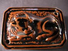 Fine Japanese Glazed Porcelain Bull Suiteki Water Dropper Calligraphy Shodo Mark