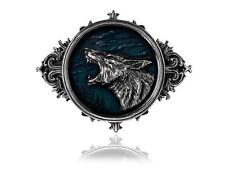 Alchemy Gothic Wulven Howling Wolf Wolves Blue Night Sky Belt Buckle B74