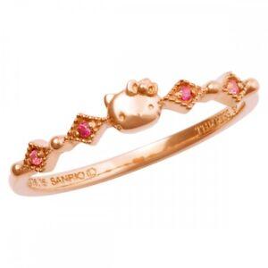 NEW Sanrio Hello Kitty x The Kiss Diamond Motif Ring KITTY-37CB from Japan F/S