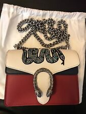 $2,890 Brand New Gucci Dionysus embroidered leather mini bag,100% Authentic