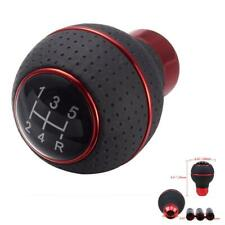 5 Speed Universal Aluminum Manual Car Auto Gear Shift Knob Shifter Lever Leather