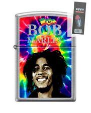 Zippo 9921 Bob Marley Street Chrome Finish Lighter + FLINT PACK