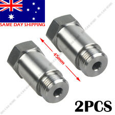 2PCS Stainless Steel Straight O2 Spacer Oxygen Sensor Extension M18x1.5 CEL Fix