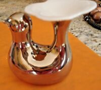 RARE VINTAGE Arzberg Vase/Candle Holder SILVER Bird 1960s Made in West Germany