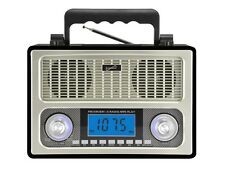 Supersonic SC-1098 Rechargeable 10 BAND AM/FM/SW1-8 RADIO +AUX/USB/SD Inputs