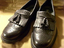 MENS FRENCH SHRINER BLACK SLIP ON TASSEL LOAFER DRESS SHOES, NEWCASTLE, 9.5M,EUC