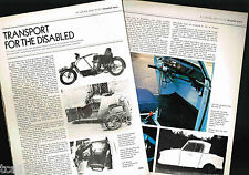 DISABLED/INVALID Cars/Vehicles History Article / Photos