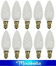 10 x 60W Twisted Candle Light Globes Bulb Small Screw E14 Pearl SES Incandescent