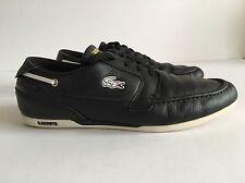 Black Lacoste Dreyfus Boat Shoe/ Sneakers Size 10