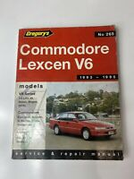 Holden Commodore Lexcen V6  Service And Repair Manual Gregory's No 265
