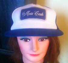 Vintage Monte Carlo Chevrolet Snapback Trucker Style Hat Adjustable Blue White