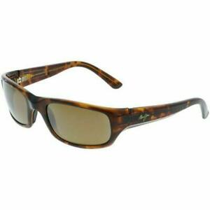 Maui Jim Stingray 103-10 Polarized Sunglasses Tortoise/Bronze Glass Wrap Display