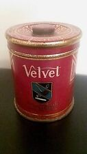 Vintage Velvet Pipe And Cigarette Canister Tobacco Tin Can Advertising Clean Old