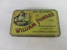 Vintage Advertising William Powder Tin W/Stock Beautiful Graphics 133-F