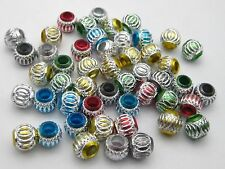 50 Mixed Colour 8mm Round Diamond-Cut Aluminium Beads