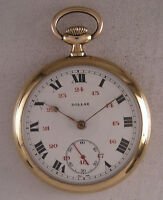 Lovely Case Hi Grade DOLLAR 1900 Gold Plated Swiss Pocket Watch Perfect Serviced