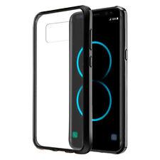 Samsung Galaxy S8 Plus Clear TPU Case Shockproof Bumper Cover Black Frame Bump