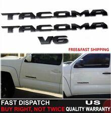 3PCS 2016-20 Toyota Tacoma Tag MATTE Black Door Emblem Decal Badge Nameplate OEM