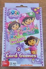 NEW!  Nickelodeon Dora the Explorer Card Games ~ Go Fish and Crazy Eights
