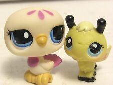 2007 Littlest Pet Shop BFF Bumblebee & Dove #201 #1442 Bird Bee Blue Eyes LPS