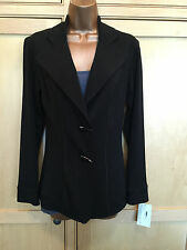 Ladies Eva Varro Black Fitted Two Button Jacket - Beautiful!