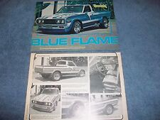"""1973 Datsun 620 Vintage Custom Mini-Truck Article """"Blue Flame"""" ---From 1978---"""
