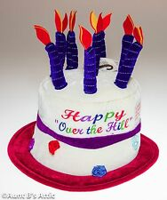 Top Hat Birthday Cake Hat Novelty Over The Hill Soft Foam Top Hat W/ Candles