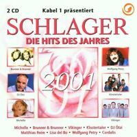 Schlager 2001-Die Hits des Jahres Wolfgang Petry, Michelle, Claudia Jun.. [2 CD]