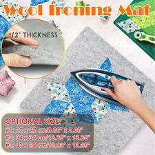 "Wool Ironing Mat Pressing Pad High Temperature Ironing Board Felt Pad 1/2"" Thick"