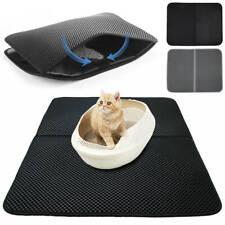 Foldable Double-Layer Cat Litter Mat Waterproof Pad Pet Rug Foam Rubber S M L
