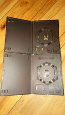 2 x Nintendo GameCube EMPTY Replacement Game Case with Memory Card Holders