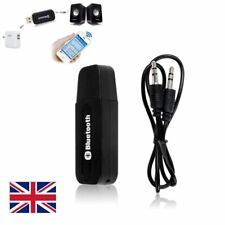 3.5mm USB Bluetooth Music Receiver Stereo Audio Adapter Speaker AUX Car Wireless