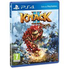 KNACK II 2 PS4 VIDEOGIOCO SONY PLAY STATION 4 GIOCO UK LINGUA ITALIANO NUOVO