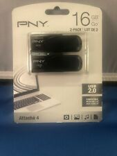 Twin Pack PNY 16GB Attache 4 USB 2.0 Compatible Flash Drive Ships Free