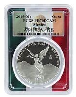2019 Mexico 1oz Silver Onza Libertad PCGS PR70 DCAM - First Strike - Flag Frame