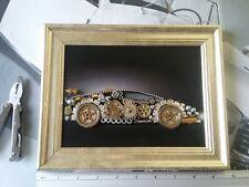 Aventador Art Steampunk Silver PVC Frame Approx 9.64x7.67 inches