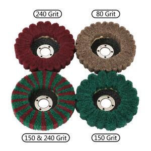"5/8"" Bore Nylon Flap Polishing Wheel Buffing Disc Grinding Tool for Metal 4Pcs"