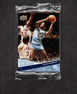 Upper Deck College Colors 5 Card Factory Sealed Pack- Worthy & Olajuwon Showing