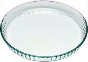 Pyrex Quiche Flan Dish 28 cm Glass High Resistance Cake Tart