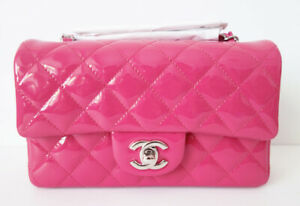 CHANEL MINI FLAP BAG PINK CLASSIC QUILTED NEW