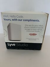 Lyve Studio Photo & Video Manager for Mobile Devices with 500GB Storage, White