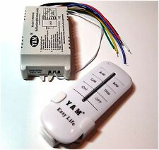 4-Way ON/OFF 220V-240V Light Digital Wireless Wall Switch with Remote Control UK