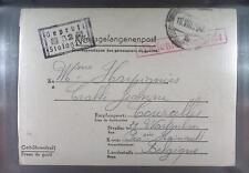 Camp Stalag IVC Wistritz 1941 POW Prisoner Belgium Kriegsgefangenenpost L52