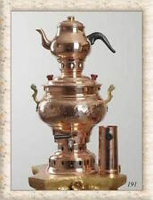 COPPER CHARCOAL SAMOVAR BOAT CAMPING HIKING WATER HEATER STOVE KETTLE TEA POT