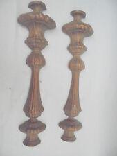 27373 2 Halb Säulen Gründerzeit Möbelbeschlag Ornament Kupfer 38cm 1890 galvanis