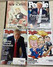 People New Yorker Rolling Stone Donald Trump Magazine Lot of 4 2015-2016