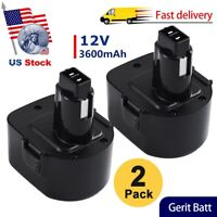 2x3600mAH Replace for Dewalt 12v Battery XRP DW9072 DC9071 DW9072 DC742KA DE9074