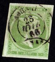 GRECE N °:12   USED   year 1866 CV : 139  €