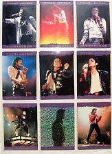 MICHAEL JACKSON Trading Cards History PANINI 1996 x 9 PURPLE Borders Holg SET 2